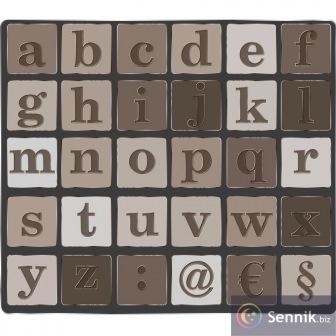 Tabliczka z alfabetem
