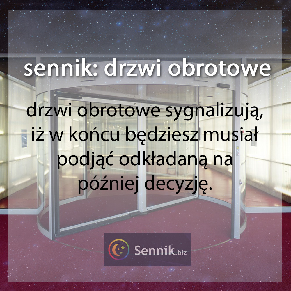 sennik - drzwi obrotowe