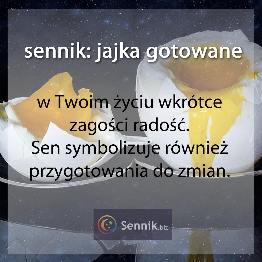 sennik jajko - jajka gotowane