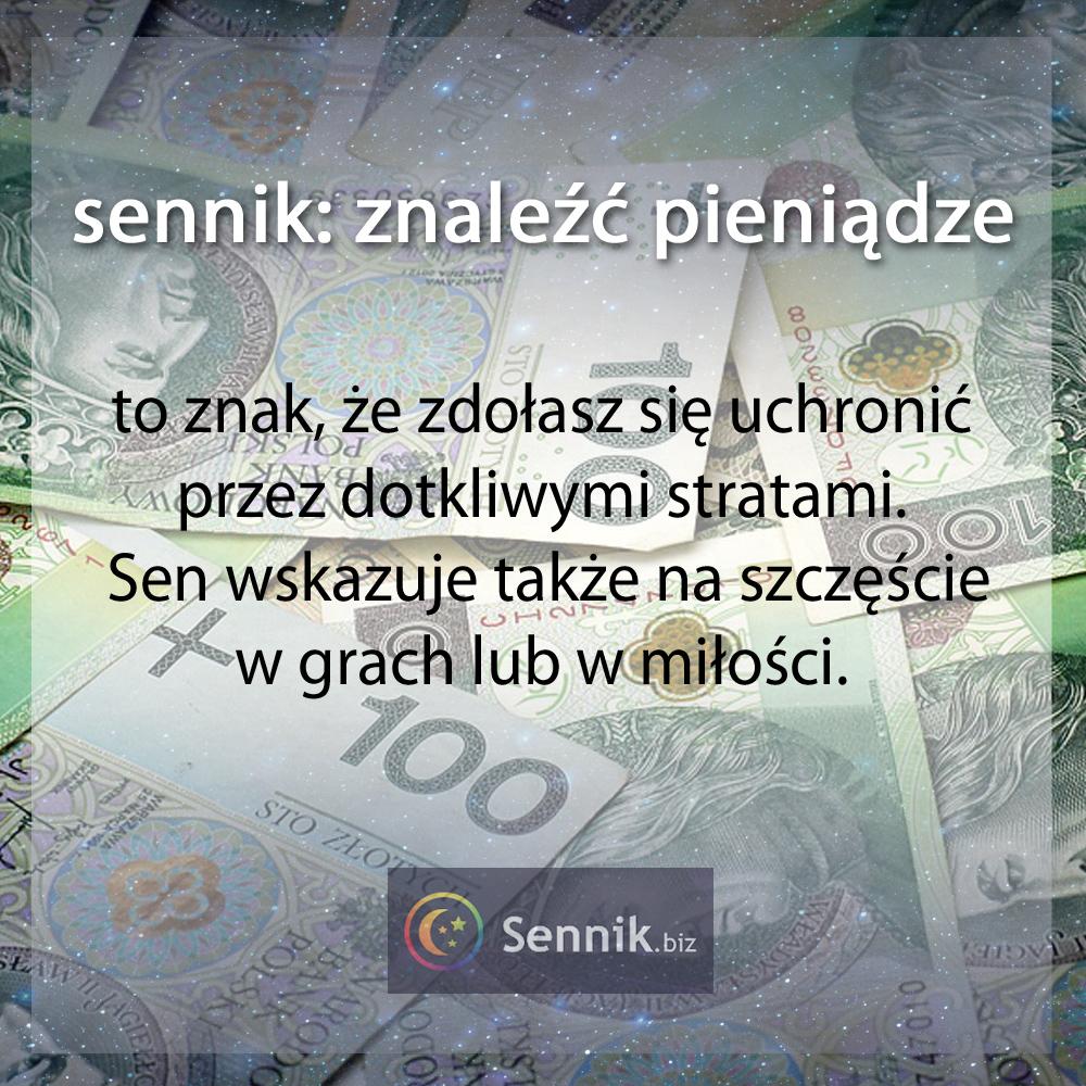 sennik pieniądze - znaleźć pieniądze