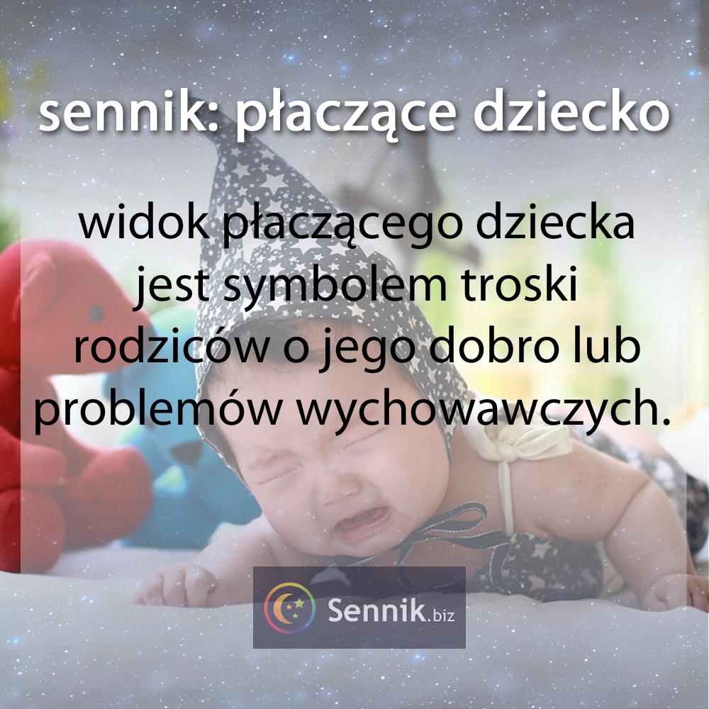 sennik - płaczące dziecko