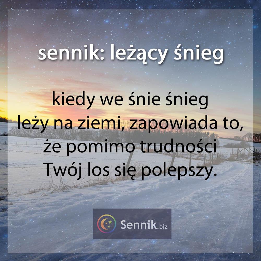 sennik - śnieg leżący