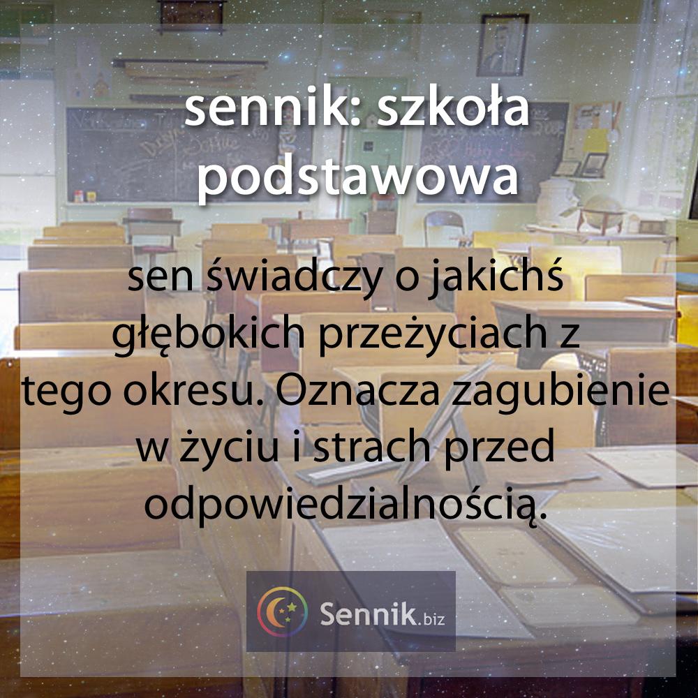 sennik szkoła - szkoła podstawowa