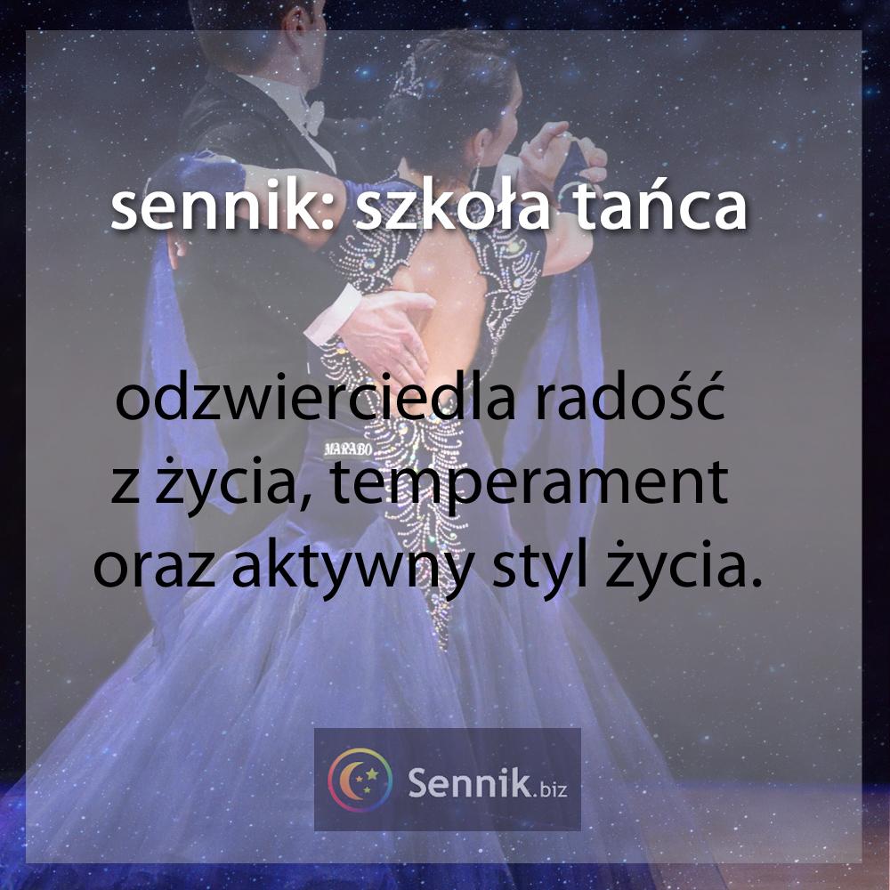 sennik szkoła - szkoła tańca