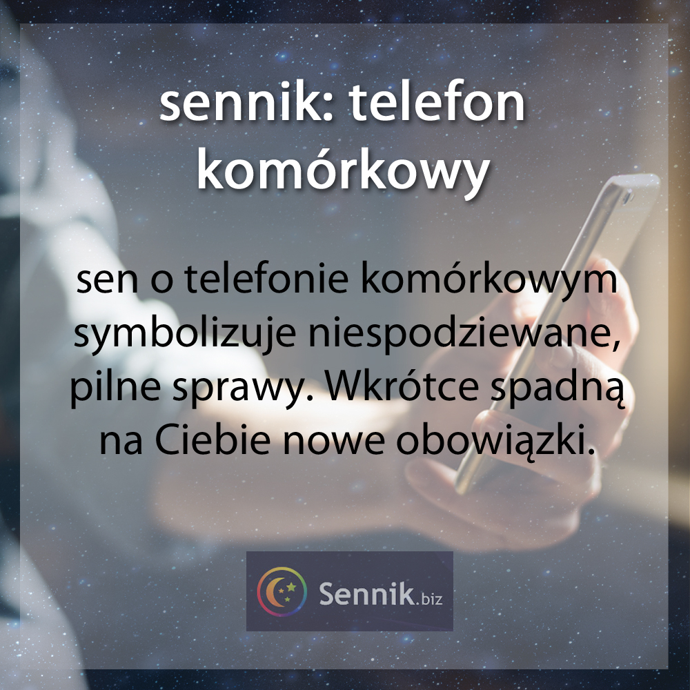 sennik - telefon komórkowy