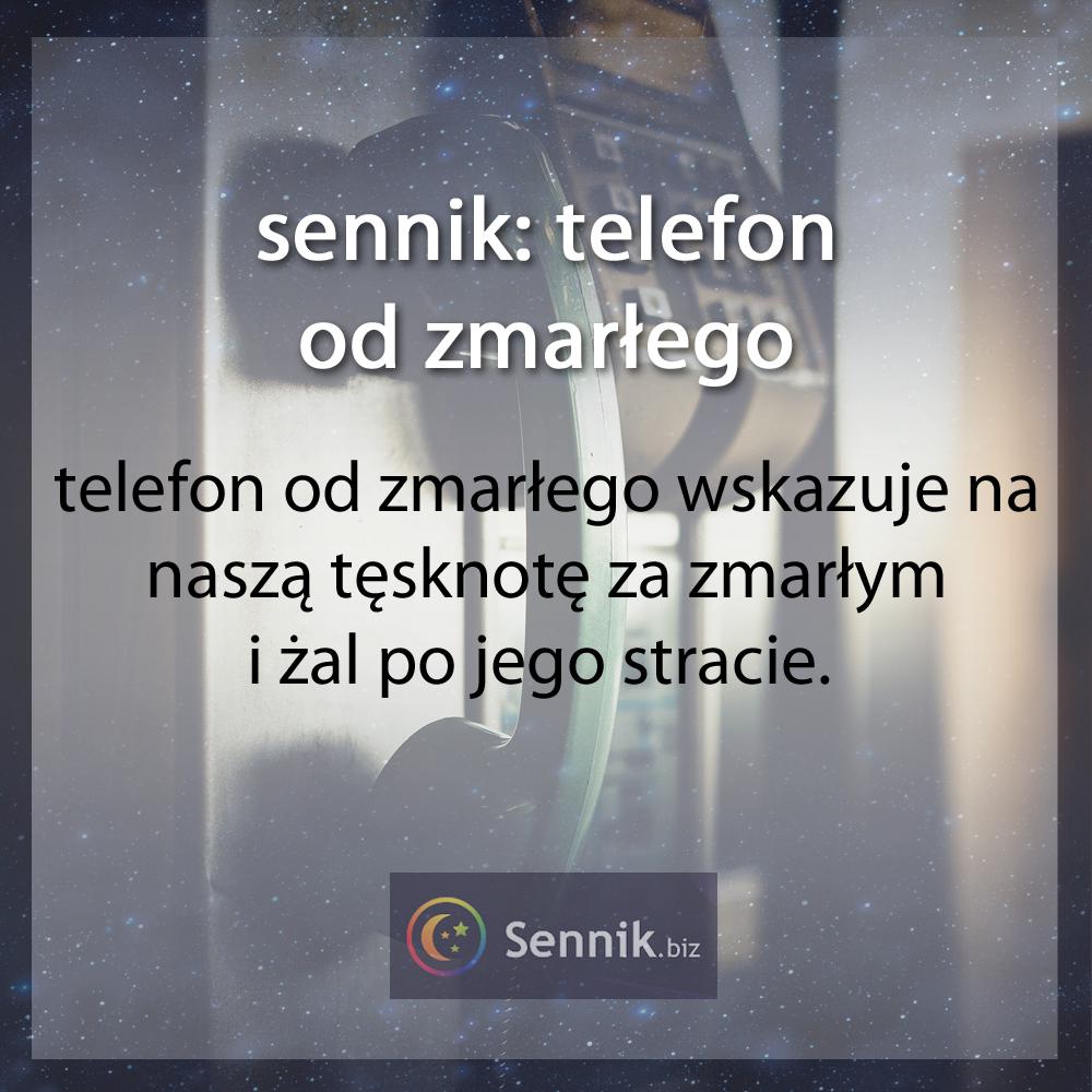 sennik - telefon od zmarłego