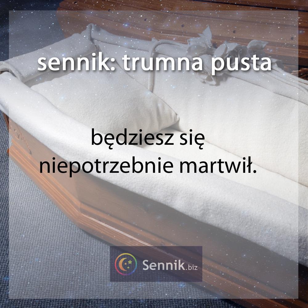 sennik trumna - pusta trumna