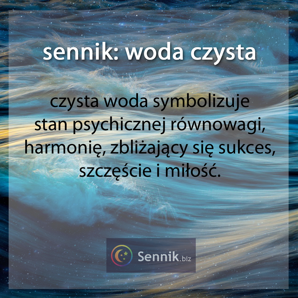 sennik - woda czysta