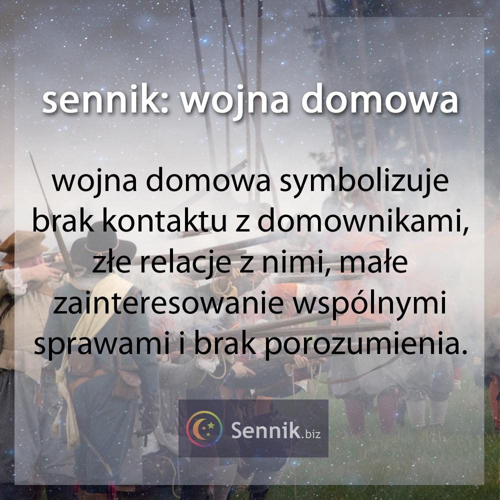 sennik - wojna domowa