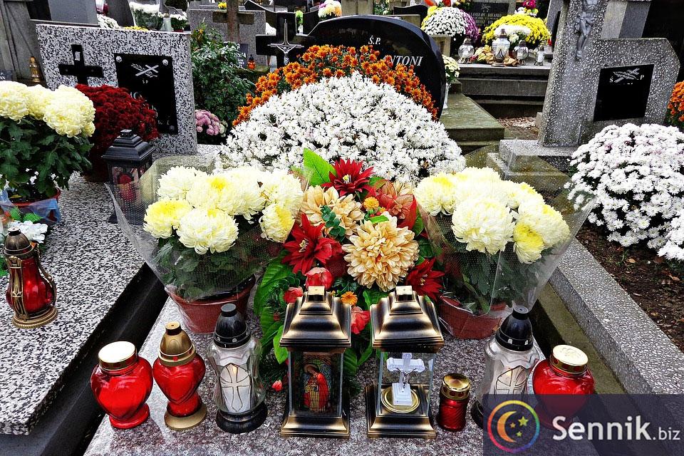 cmentarz sennik