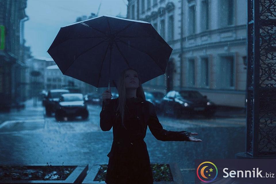 deszcz sennik