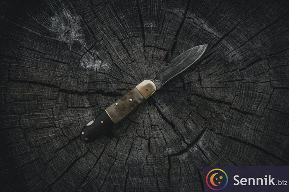 nóż znaczenie snu