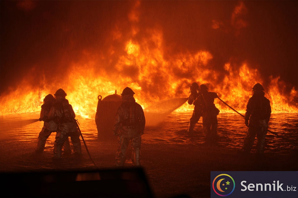 sennik pożar