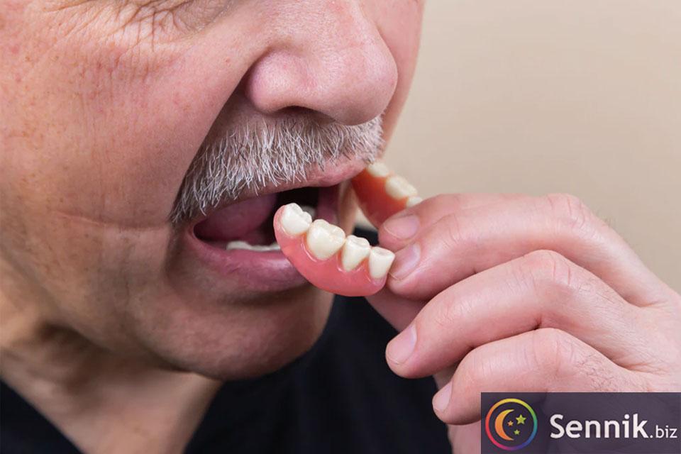 sennik wypadające zęby